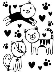 Darice Embossing Folder, Cute Kitties & Pawprints, 4.25 x 5.75 Inches, A6