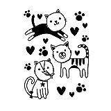 Darice Embossing Folder, Cute Kitties