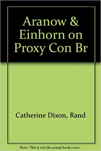 Aranow einhorn on proxy contests for corporate control randall s aranow einhorn on proxy contests for corporate control randall s thomas catherine t dixon edward ross aranow 9781567066012 amazon books malvernweather Gallery