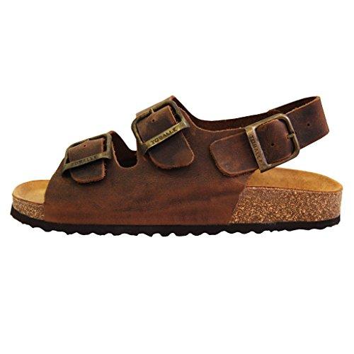 Sandalias comodas - Chanclas - PiIel de ante - Mujer