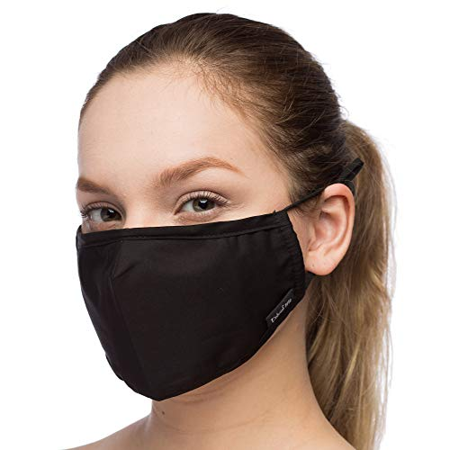 Debrief Me (1 Mask+4 Filters) Anti Dust Face Mouth Cover Pollution Masks Respirator Comfy Cotton - Dustproof Anti-Bacterial Washable Reusable- Germ Protective Safety Windproof (Black)