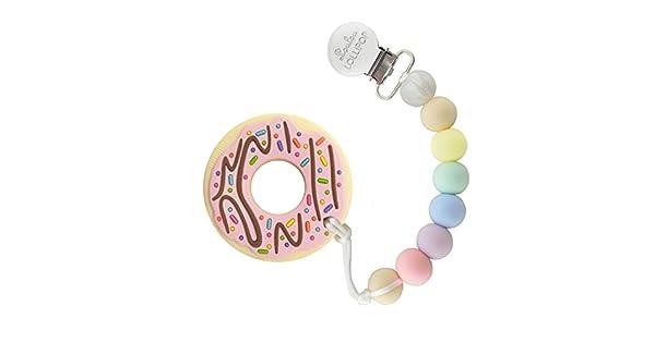 Amazon.com: Loulou Lollipop cuarzo rosa Donut de silicona ...