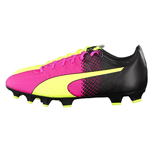 Puma Evospeed 4.5 Tricks Fg - Botas de fútbol Hombre pink glo-safety yellow-black