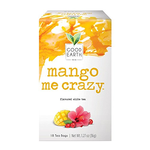 Green Crazy (Good Earth White Tea, Mango Me Crazy, 18 Count Tea Bags (Pack of 6))