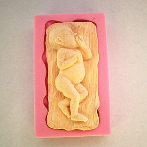 Mold Soap - Born Baby Sleep With Eats Hand Silicone Fondant Cake Molds Soap Chocolate Mould Baking Clay - Lollipop Heart Mold Molds Plastic Brush Shower Paint Purse Mould Plaque Sphere Heels