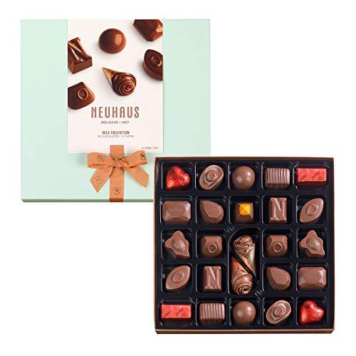 Belgian Chocolates Milk - Neuhaus Belgian Milk Chocolate Collection (25 pieces) - Gourmet Milk Chocolate Assortment Box
