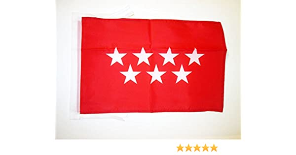 AZ FLAG Bandera de la Comunidad DE Madrid 45x30cm - BANDERINA MADRILEÑA 30 x 45 cm cordeles: Amazon.es: Hogar