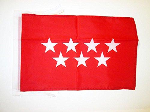 (AZ FLAG Community of Madrid Flag 18'' x 12'' Cords - Spanish Region of Comunidad de Madrid Small Flags 30 x 45cm - Banner 18x12 in)