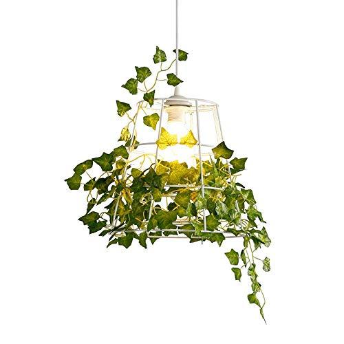 CNWJX Simple Rural Petit Frais Vert Plantdecoration Lustre Fenêtre Bar Comptoir Restaurant Fleur Boutique Suspension Lampe Balcon Allée Chambre Pendentif Lumières