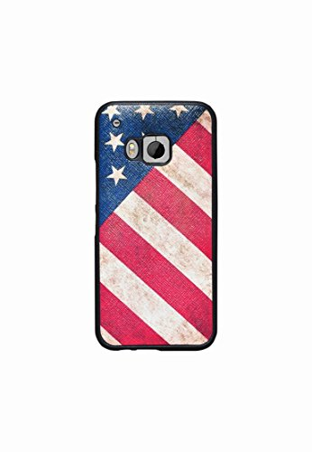 HTC One M9 Case - Fix Color and More® - Soft Elastic Design Case for HTC One M9 Smart Phone 2015 - Perfect Designs - (American Flag)
