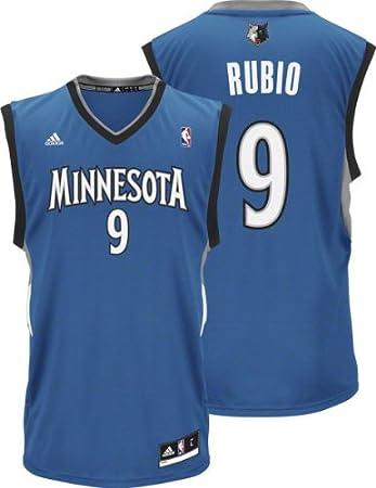 Ricky Rubio Minnesota Timberwolves Adidas NBA Replica Youth Jersey - Blue   Amazon.co.uk  Sports   Outdoors 3c1657c9a