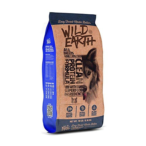 Heads Up For Tails Wild Earth Clean Protein Formula Veg Dry Adult Dog Food – All Breeds (8.16 Kg)