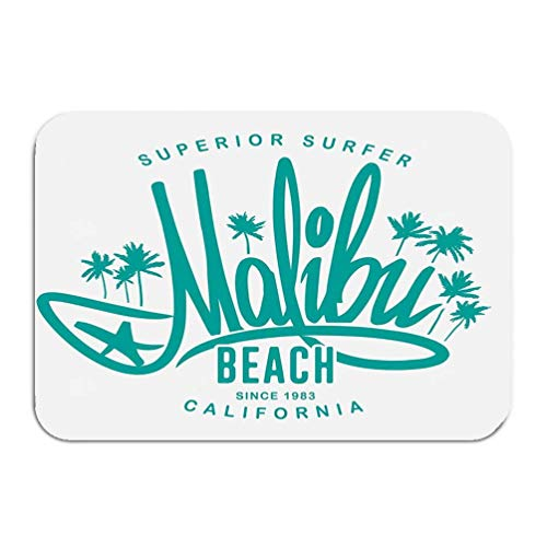 YGUII Washable Fabric Placemats for Dining Room Kitchen Table Decoration 16X23.6in (40x60cm) Malibu surf Typography Print Design Malibu surf ty