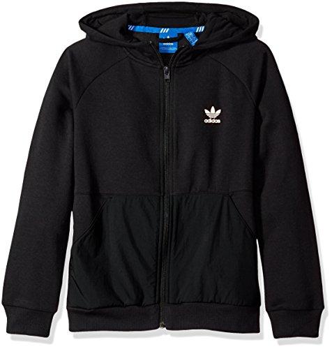 adidas Originals Boys' Active Zip Hoodie, Black Luxe, - Zipper Originals Adidas