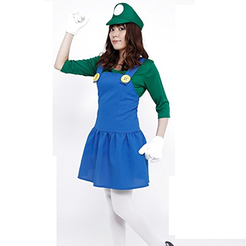 PATYMO Powerful Girl Costume Green - Teen/Women's XS/S Size ()