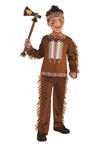 Girls Boys Native American Indian International Around The World Cowboys & Indians Fancy Dress Costume Outfit 4-10yrs (8-10 Years)