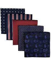 XQWLP 5 piezas colorido surtido para hombre bolsillo cuadrado seda clásico conjunto de pañuelo de pañuelo colorido (Color : A)