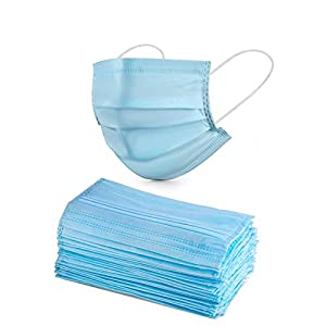 ASGARD Nonwoven Fabric Disposable Surgical Mask 3Ply (Blue, Without Valve, Pack of 10) for Unisex