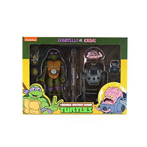 NECA Donatello vs Krang Action Figure 2-Pack Teenage Mutant Ninja Turtles Cartoon Version TMNT from Teenage Mutant Ninja Turtles
