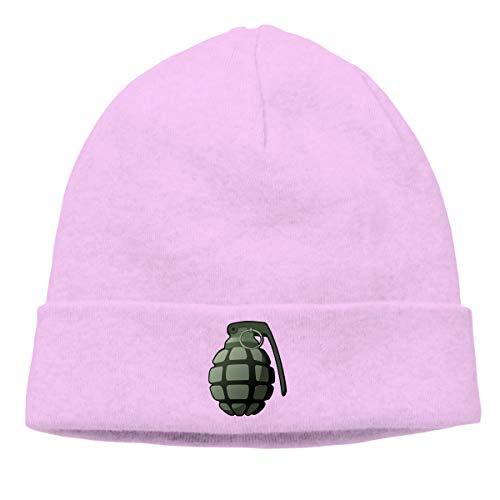 Warm Beanie Hats Military Grenade Unisex Knit Skull Cap Pink ()