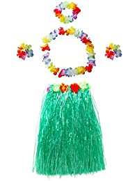 Elastic Hawaiian Hula Dancer Grass Skirt