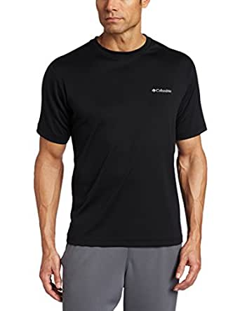 Columbia Men's Meeker Peak Short-Sleeve Crew T-Shirt, Black, Small