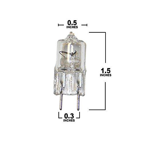 1 x feit 120v jcd g8 bi pin base clear finish halogen 20w