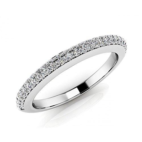 Cut Diamond Eternity Wedding Band Ring ( Color G Clarity SI1) Platinum In Size 7.5 (Platinum Round Diamond Eternity Band)