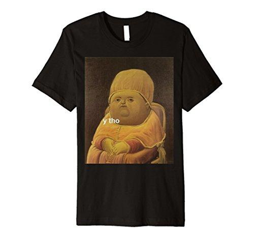 Mens y tho Meme T-Shirt Medium Black (Tho Thos)