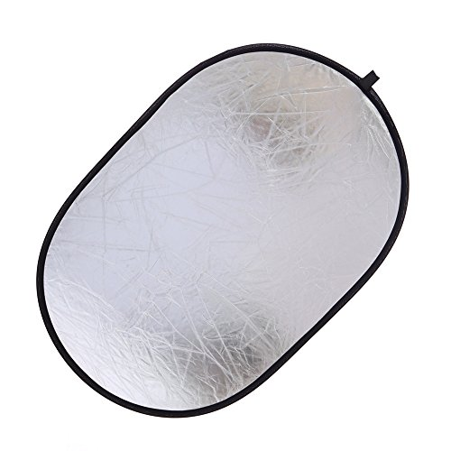 5-in-1 Oval Light Reflector 35 x 47 inch (90 x 120cm) Portable Collapsible Photography Studio Photo Camera Lighting Reflectors/Diffuser Kit with Carrying Case by Konseen (Image #3)