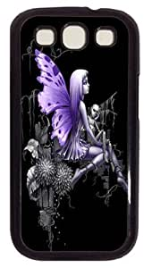 Kingsface IMARTCASE Samsung Galaxy S3 case cover, Lonely Fairy Animated Purple Graphic PC Black case cover t6Mw1lRoC6k Cover for Samsung Galaxy S3 I9300