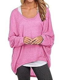 Shinekoo® Women Casual Oversized Off-Shoulder Long Sleeve Top Blouse Autumn Shirt
