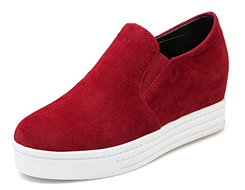 Rouge Sneakers Bout Basse Aisun Rond Femme Mode YwqUzB