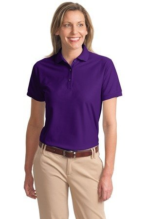 Port Authority Womens Comfortable Silk Touch Sport Polo Shirt  Purple  Large