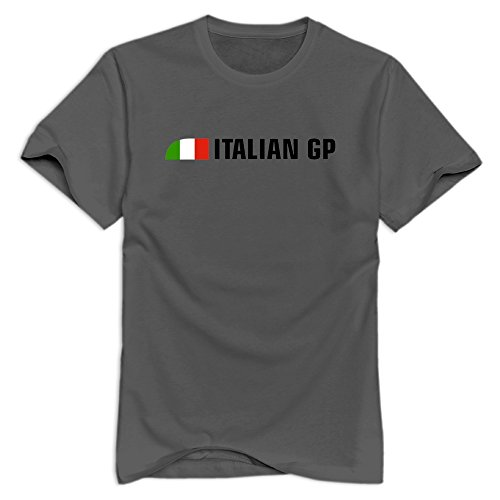 Tavil Italian Grand Prix 100% Cotton T Shirt For Men DeepHeather Size ()