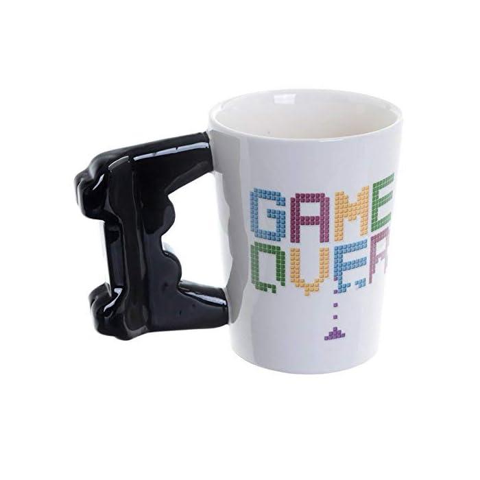 41UU3LqRbtL Taza de Cerámica Diseño Original de controlador de consola Frase: Game Over
