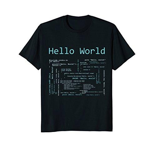 Hello World - Computer Programming Languages T-Shirt