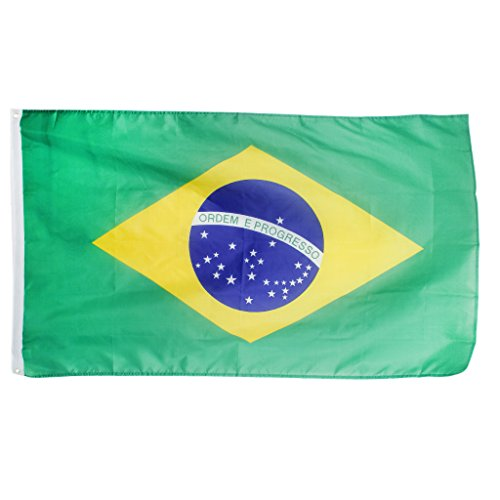 Large Brazil National Flag Brazilian Football Banner 5*3FT