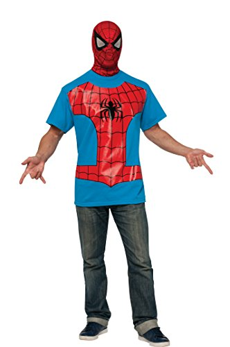 Rubie's Costume Men's Marvel Universe Spider-man Adult Costume T-shirt and Eye Mask, Multi, X-Large (T Shirt Spiderman)