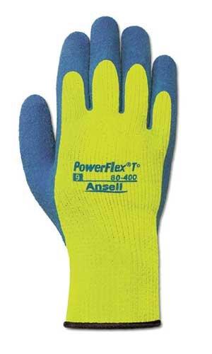 - Ansell 80-400-11 Size 11 Hi-Viz Powerflex Cold Weather Gloves