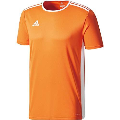 保持ではごきげんよう前進adidas(アディダス) ENTRADA18 トレーニングシャツ メンズ サッカー?フットサルウェア ORG/WHT CD8366 J/XO