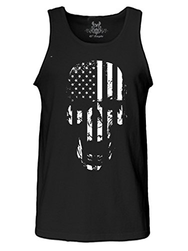Eagle Rock Flag - Gs-eagle Men's Printed Skull American Flag Graphic Tank Top Xlarge Black