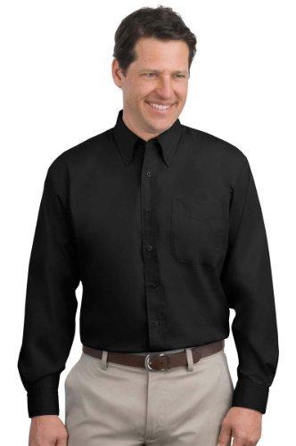 Port Authority Men's Comfort Wrinkle Resistant Shirt_Black/