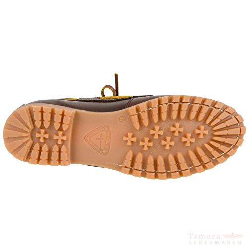 Tamaris - Náuticos de cuero Mujer marrón - Marron - Braun (Chestnut 328)