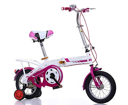 Bicycle Children's Variable Folding Bicycle for Boys and Girls for Children Over 8 Years Old Sports Bicycle (Color : Purple 1) ()