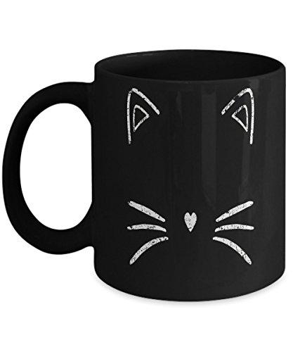 Vintage Cat Face Shirt - Funny Cute Animal Halloween Costume coffee mug]()