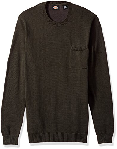 Dickies Men's Crew Pullover with Patch Pocket, Olive, XL ()