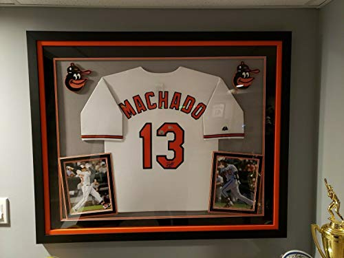 - Manny Machado Baltimore Orioles Autographed Signed Jersey Framed - Certified Signature