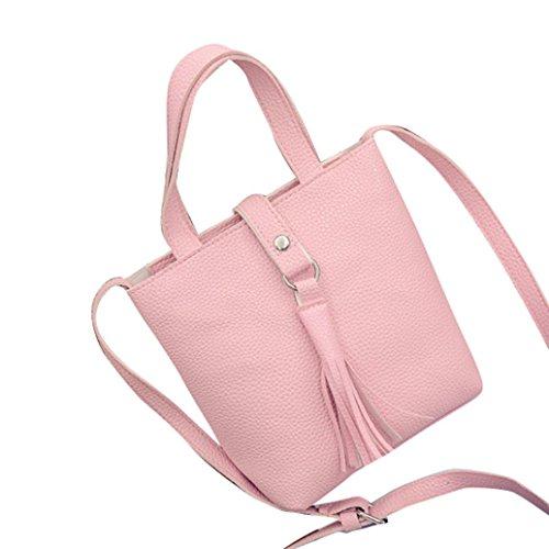 Transer Handbags & Single Shoulder Bags Women Zipper Bag Girls Hand Bag - Bolso bandolera  unisex adulto Mujer Hombre Niños unisex Niños gris 16cm(L)*20(H)*9cm(W) rosa