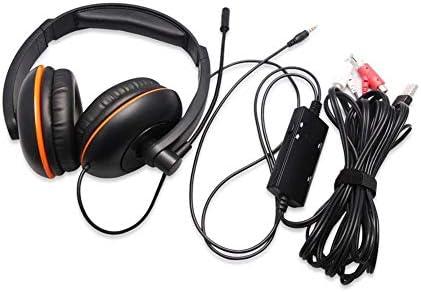 RENKUNDE ゲーミングヘッドフォンシンプルな黒のヘッドマウント 快適な通気性のイヤークッション ゲーミングヘッドセット